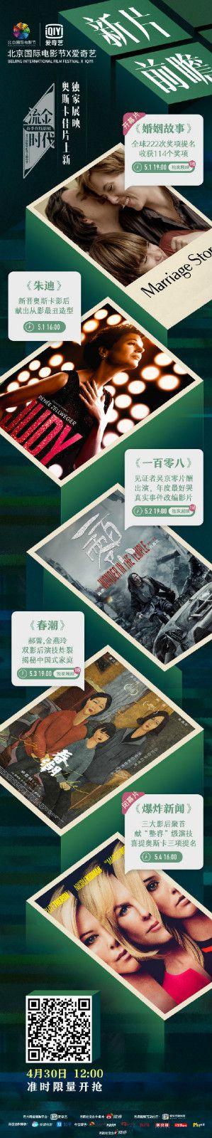 北影节线上影展片单揭晓《婚姻故事》《朱迪》等在列